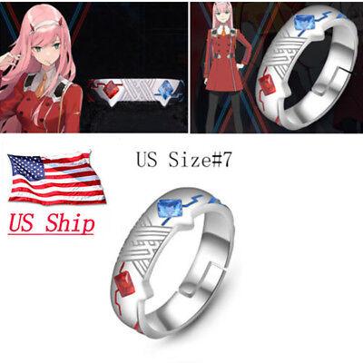 2020 Darling in the franxx Japan Anime Metal Ring 925 Adjustable US #7