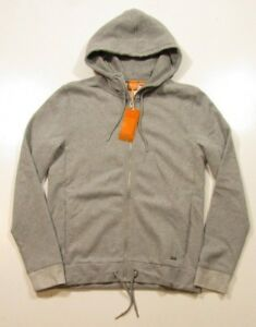 86443535941 Boss Orange by Hugo Boss Men s Full Zip Pastel Gray Ztager Cotton ...