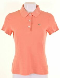 LACOSTE-Womens-Polo-Shirt-EU-40-Medium-Orange-Cotton-KV22