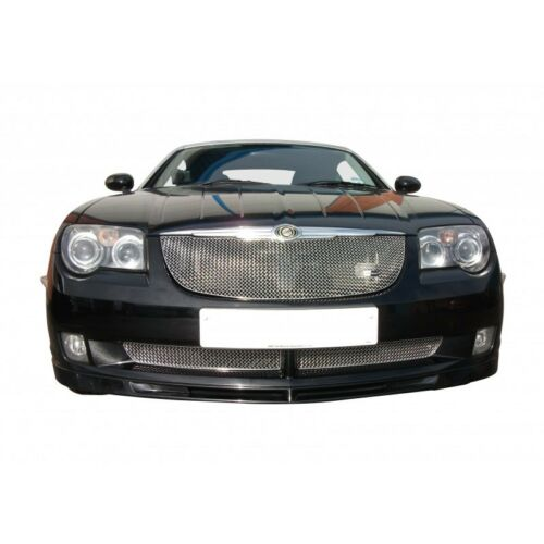 Zunsport Polished silver mesh front grille set Chrysler Crossfire 04-08