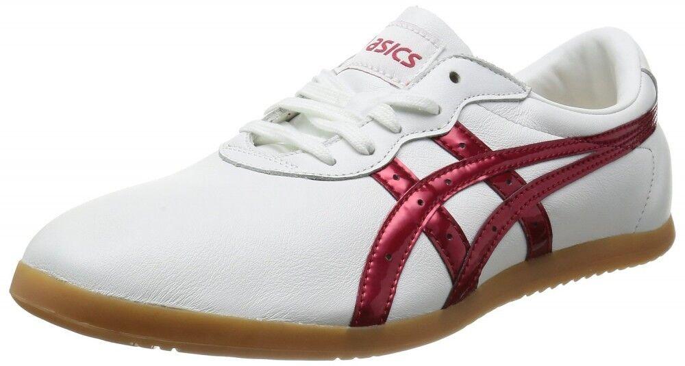 Asics Taikyokuken shoes Woo Shoo WU TOW013  White   metal red  general high quality