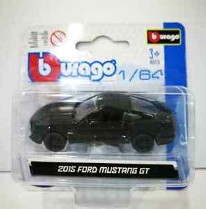 NEW-Burago-2015-FORD-MUSTANG-GT-BLACK1-64-1-64-DieCast-NEW-amp-SEAL