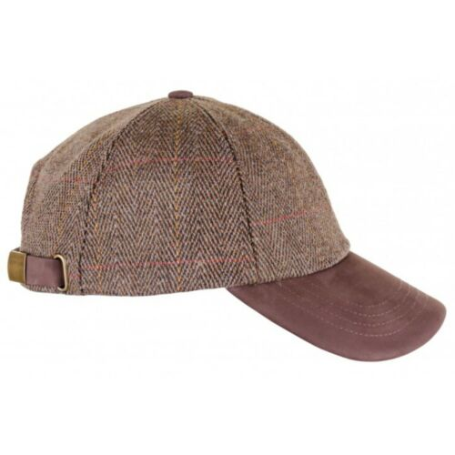 Valley Derby Tweed Leather Peak Baseball Cap