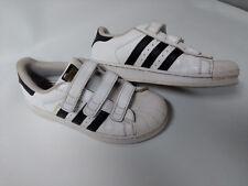 get cheap 939cb 8ae95 adidas Originals White Black Kids Children Shoe SZ US 3,UK 2 1 2
