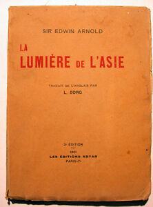 BOUDDHISME-LUMIERES-DE-L-ASIE-ARNOLD-ADYAR-1931-RARE