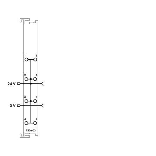 WAGO 750-603 potentiel de distribution 8-way 24 V 000226