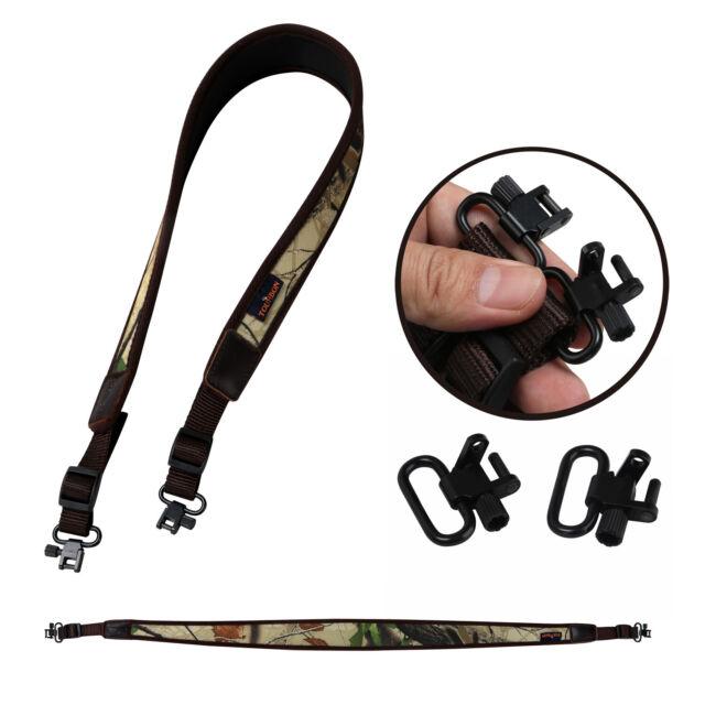 Tourbon Rifle//Shotgun Sling Swivels Mounted Set Leather Gun Strap Range Shooting