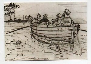 Carte-Postale-Tintin-Les-crayonnes-n-1-La-chaloupe-du-Sirius-2016