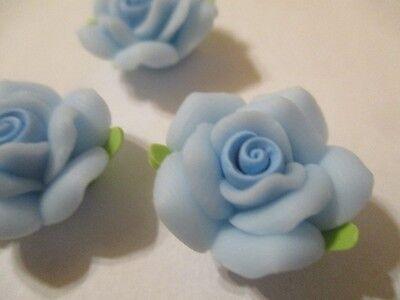 25 x 11-12mm Handmade Polymer Clay Fimo floral flower Beads Burgundy Leaf