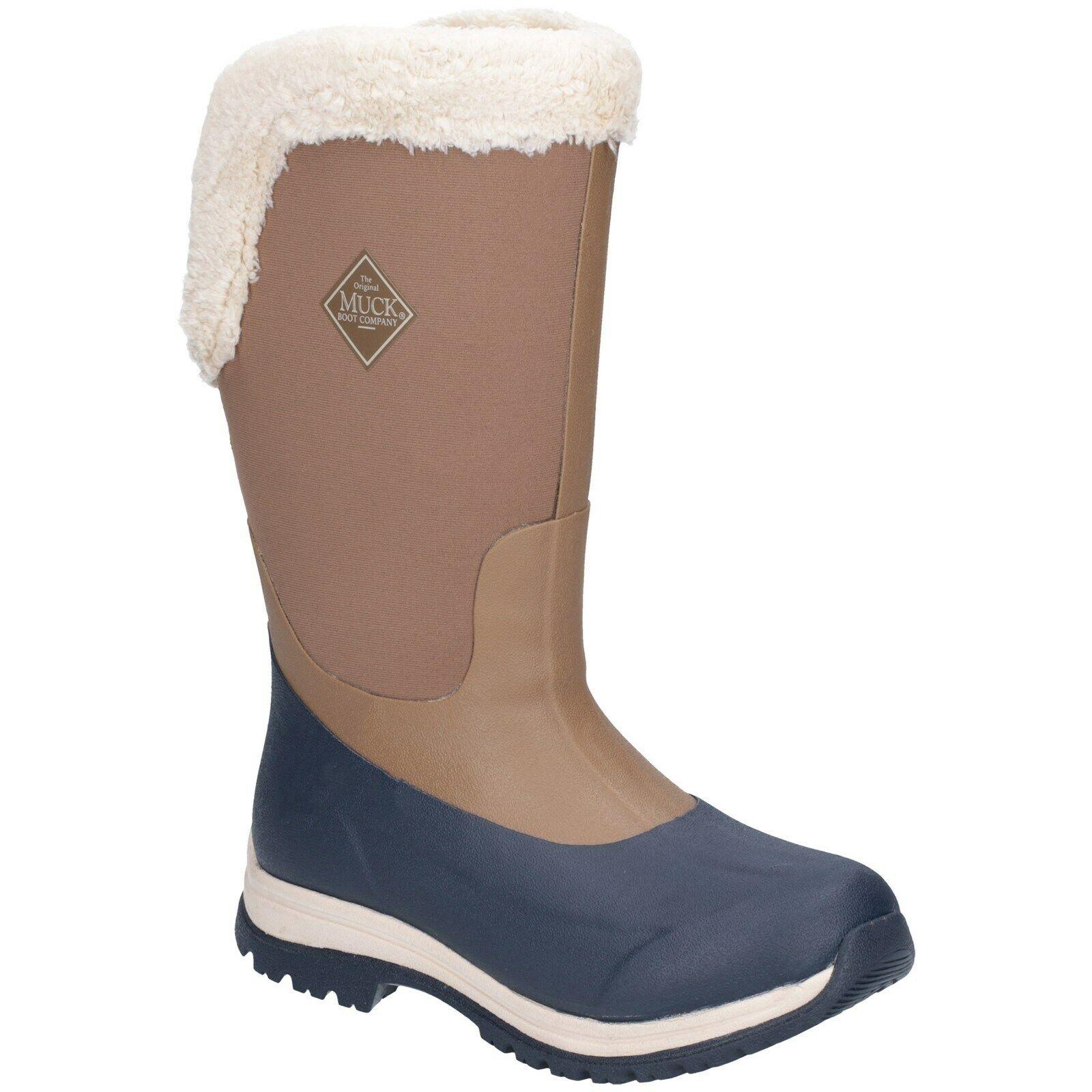 Muck botas Apres para mujer Bota de alto Slip On Impermeable Wellingtons