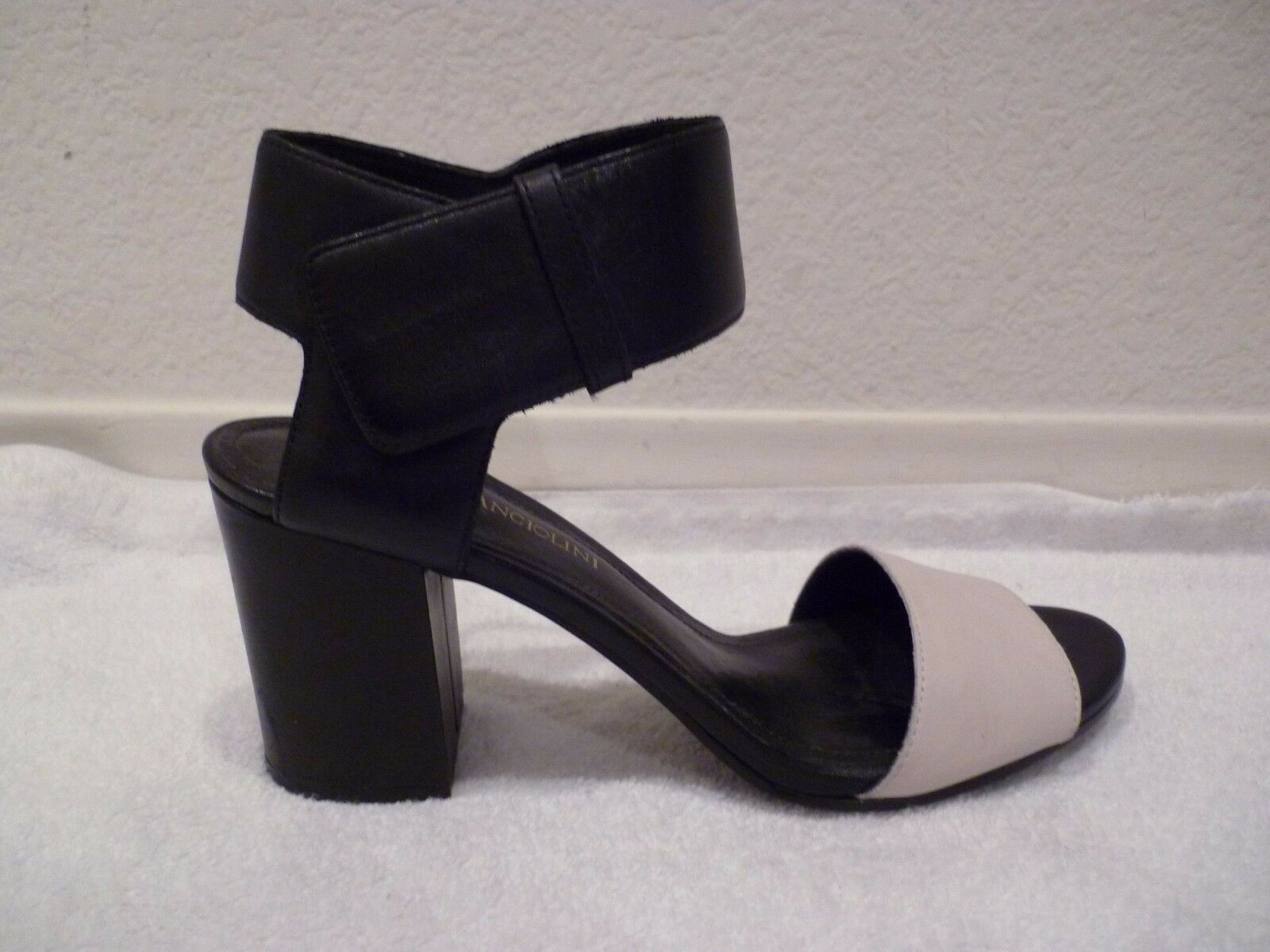 ENZO ANGIOLINI WINDELL Black Womens Designer Ankle Strap Open Toe Sandals 7m-NEW