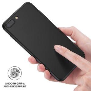Pour-iPhone-7-Plus-8-Plus-X-8-Case-Slim-Anti-rayures-dur-PC-Mat-Arriere-Capot-Noir