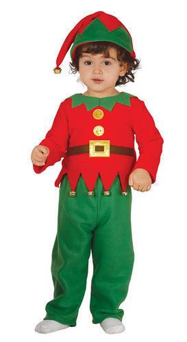 Christmas Elf Toddlers Fancy Dress Santas Little Helper Kids Festive Fun Costume