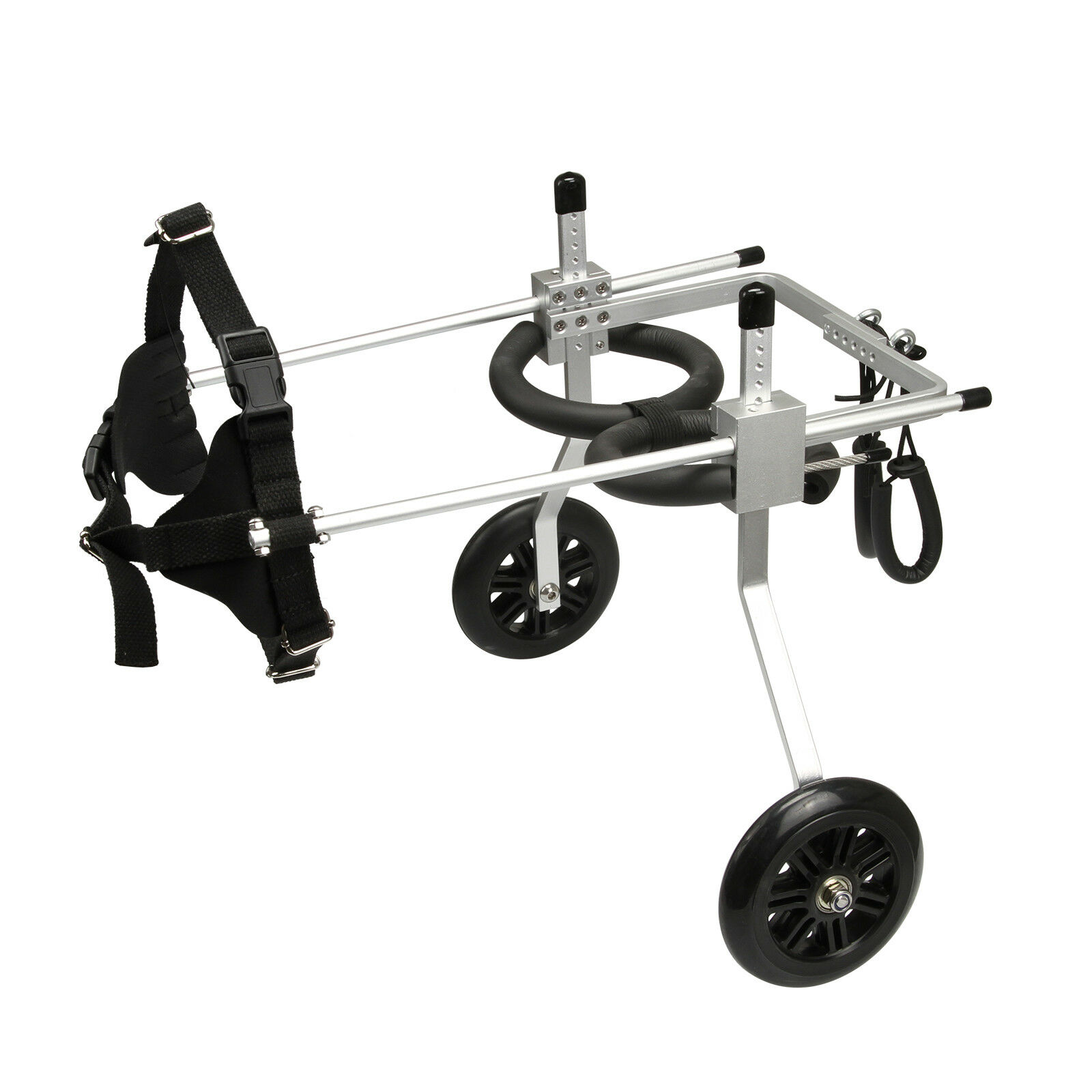S M L AnmasBox Adjustable 2-Wheel Pet Wheelchair for Handicapped Dog\Cat\Puppy