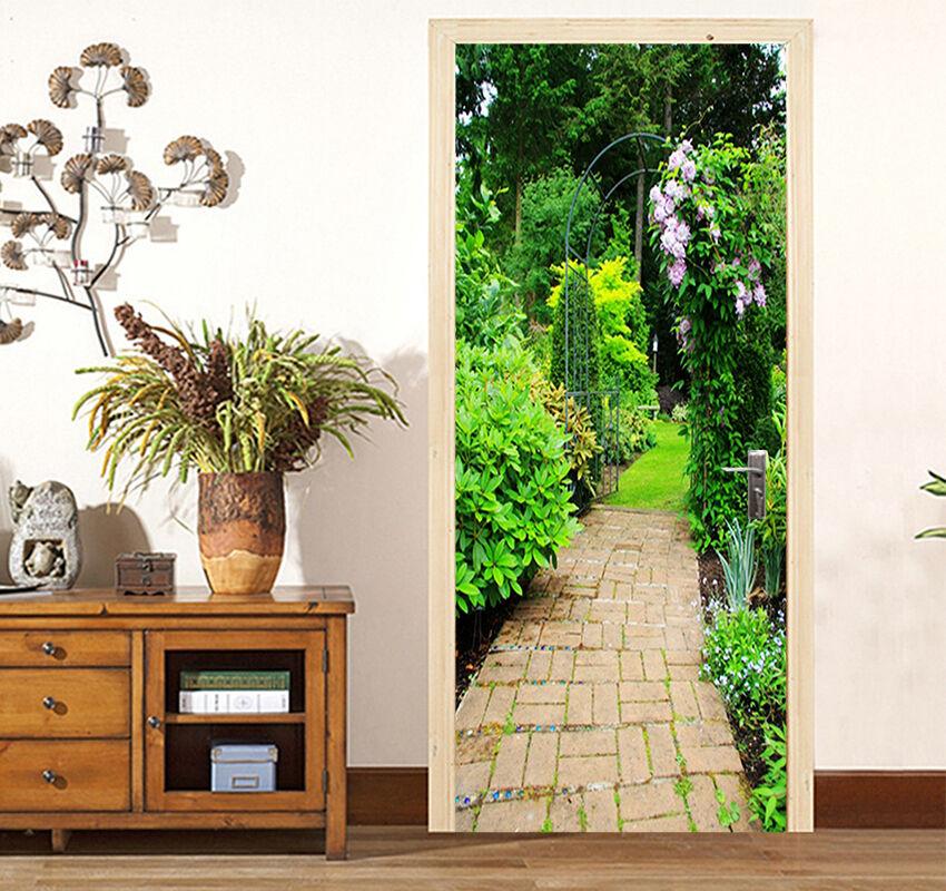3D greene Bäume 88 Tür Wandmalerei Wandaufkleber Aufkleber AJ WALLPAPER DE Kyra