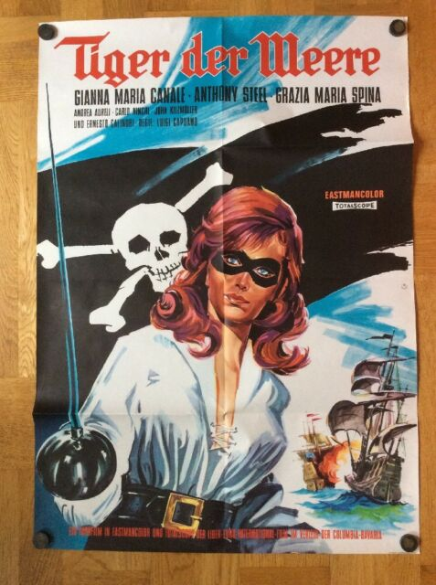Tiger der Meere (Kinoplakat '63) - Gianna Maria Canale / Anthony Steel