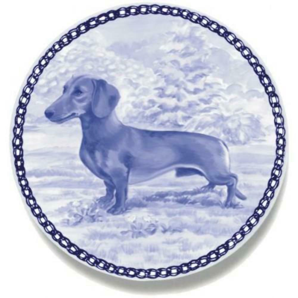 Dachshund - Dog Plate made in Denmark from the finest European Porcelain