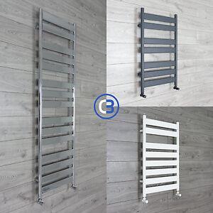 Flat-Panel-Designer-Heated-Bathroom-Towel-Rail-Radiator-Chrome-White-Grey