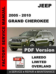 jeep grand cherokee 2005 2006 2007 2008 2009 2010 service repair rh ebay com 2008 jeep grand cherokee manuel 2008 jeep grand cherokee manual engine light