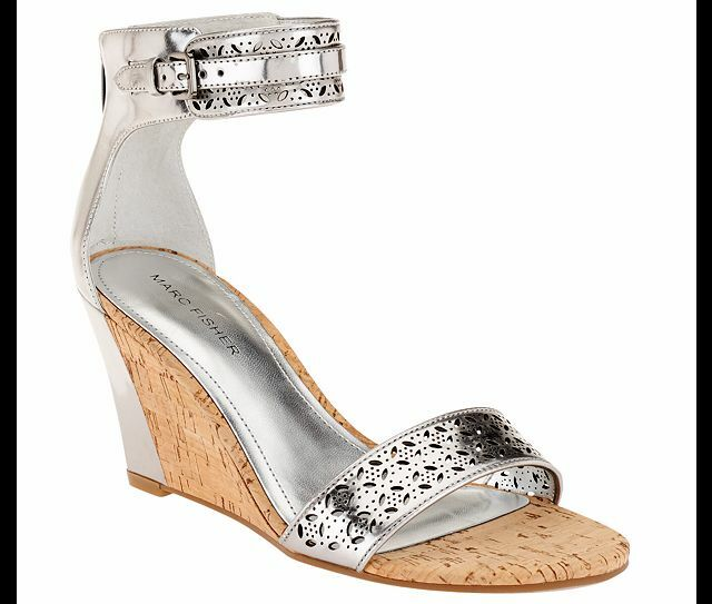 Marc Fisher - Perforated ANKLE Wedge Sandals - Fisher Coley 3 PICK SIZE & COLOR NW ec9fec