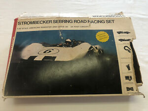 Very Rare Strombecker Sebring Road Racing Set 1/32 Scale Lotus American Roadster
