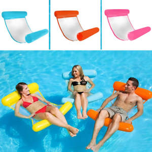 Summer Inflatable Floating Water Hammock Float Pool Lounge Bed Swimming Chair
