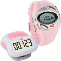 Mio Classic Walk Pink Ecg Heart Rate Calorie Monitor Women's Watch + Pedometer