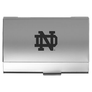Image Is Loading University Of Notre Dame Two Tone Business Card