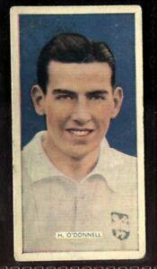Tobacco-Card-Carreras-POPULAR-FOOTBALLERS-1936-H-O-039-Donnell-Preston-NE-33
