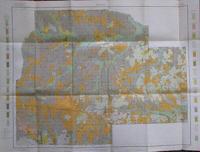 100% Quality Color Soil Survey Map Lincoln County Louisiana Ruston Simsboro Choudrant 1909