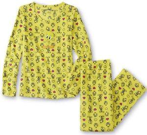 0dcd487fa Women s TWEETY Looney Tunes 2-Piece Fleece Pajama Set S-3X 3082