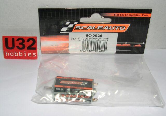 Scaleauto SC-0026 Motor SC-25 Endurance 1 22000rpm 12v 0.20 Amp 310gr Mpm 4 Gr