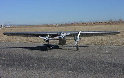 Printed Plans for Ford Tri Motor 78 inch Wing Giant Scale RC