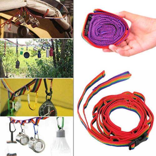 Rope Cord Outdoor Camping Hiking Accessories Colorful Tent Hang Lanyard Tent P3