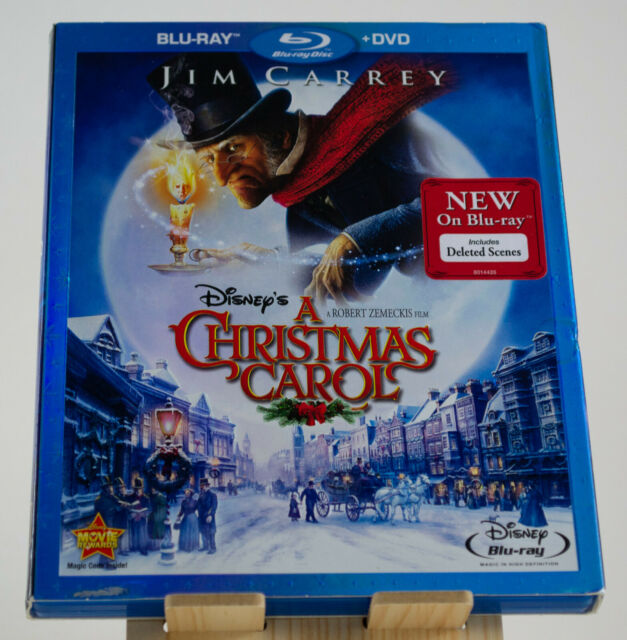 Disney's A Christmas Carol (2009) (Blu-ray + DVD) Jim Carrey Robert Zemeckis | eBay