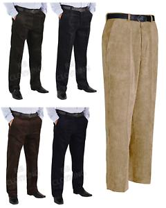 Homme-Grande-Taille-Decontracte-Chic-Cordon-Velours-Cotele-Pantalon-Pantalon-Taille-30-62-Jambe-27