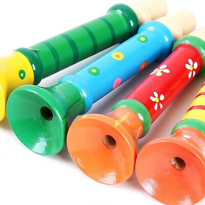 Wholesale Kid Wooden Musical Instrument Trumpet Hooter Bugle Suona Toys CA04