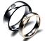 Coppia-Fedi-Fedine-Uomo-Donna-Acciaio-Argento-Oro-Anello-Nero-Incisione-Nome-Dat miniatura 1