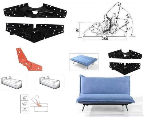 Sofa Bed Bedding Furniture Adjustable 3-Position  Angle Mechanism Hinge Hardware