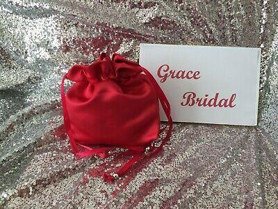 IVORY DUCHESS SATIN DOLLY BAG BRIDAL BRIDESMAID FLOWER GIRL BNIP *free swatches*
