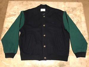 Vintage degli anni '80 adidas logo verde blu di lana giubbotto di dimensioni degli adulti