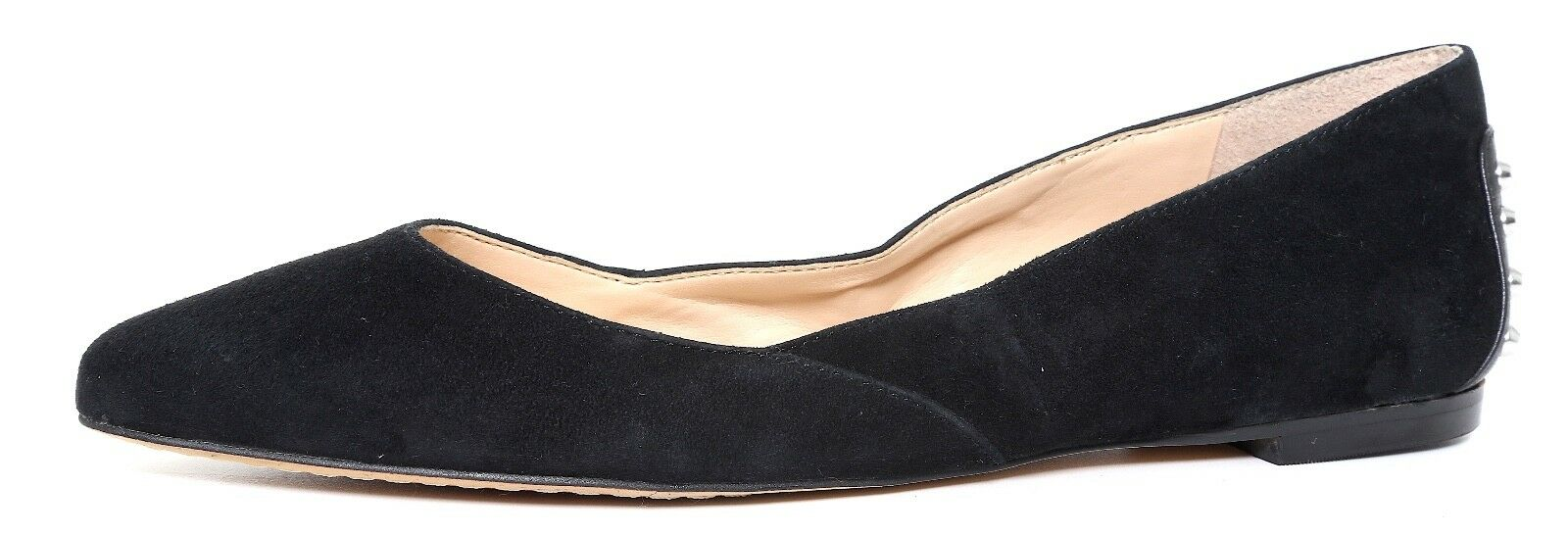 Vince Camuto Alley Black Suede Studded Flats Women Sz 5 M 4426