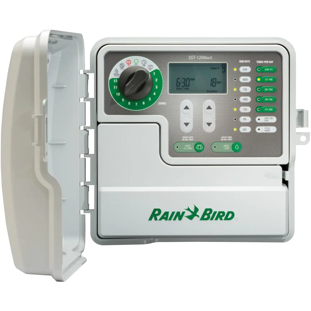 6-Station Indoor Outdoor Simple-to-Set Irrigation Timer Control Watering