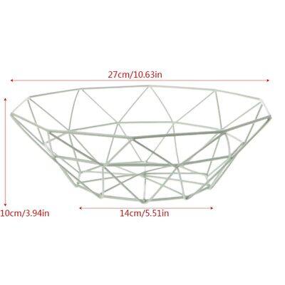 Geometric Metal Iron Wire Fruit Basket Holder Fruit Bowl Kitchen Storage Display