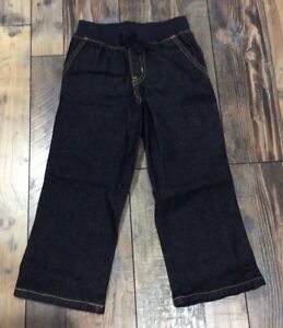 GYMBOREE BOYS Denim Dark Jeans PANTS Pull On WAIST Nwt 2t