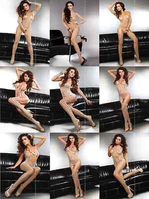 █▬█ █ ▀█▀ Sexy Netz Body ✔ Schritt offen ✔ Catsuit Dessous Reizwäsche ✔ S-L