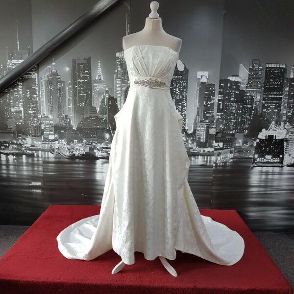 Analitico Magnifico Hand Made Dress (avorio-taglia 12-petite) Matrimonio, Nozze, Palla Da Spiaggia Diversificato Nell'Imballaggio