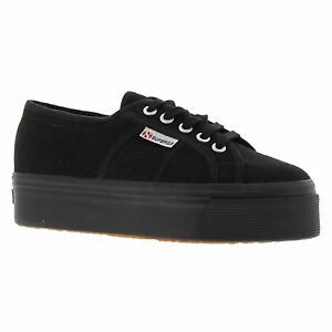 SUPERGA 2790 Acotw Linea Up e DOWN BLACK NERO Scarpe da donna