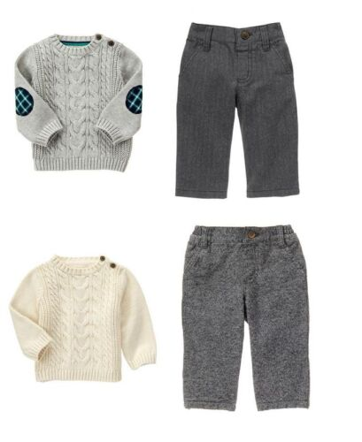 Gymboree Baby Boy/'s Outfit Set NEW Tags Dressed Up Line Sweater Top Dress Pants