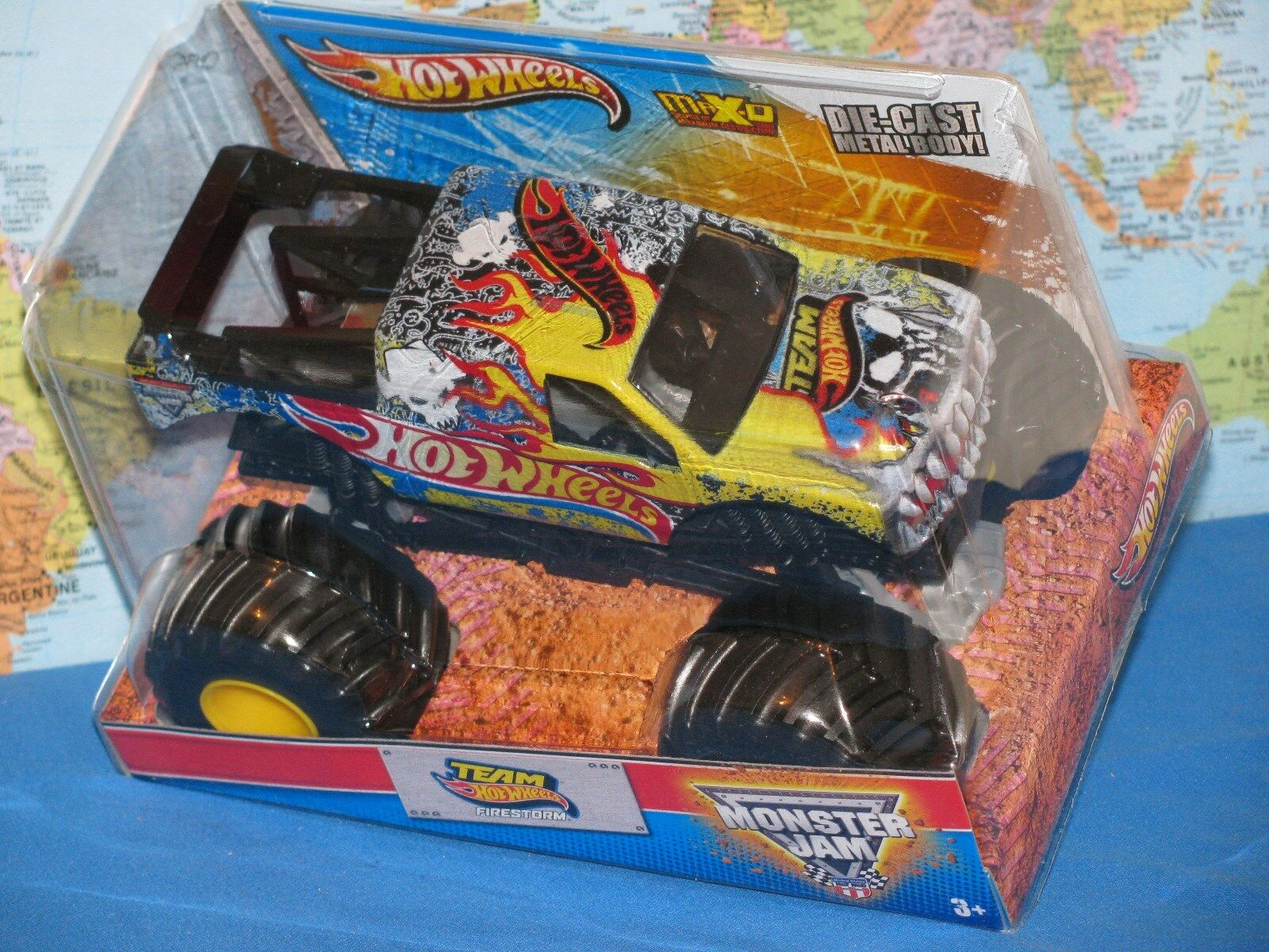 1 24 Hot Wheels Confiture de Monstre Équipe Firestorm Max-D Avancé Auto
